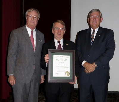 Walter Siegenthaler Receives Long Leaf Pine Award